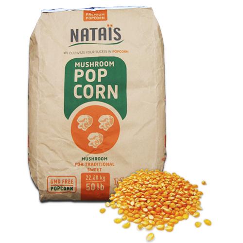 4x 5 kg Eimer Popcornmais (2,25 €/kg), 20 kg Mushroom Popcorn, Nataïs