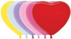 Herzballons 12  Fashion Solid gemischte Farben