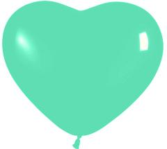 Herzballons 6 Fashion Solid grün