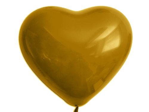 Herzballons 6  Metallic gold R
