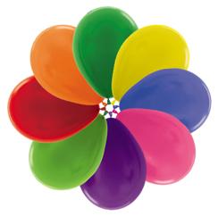 Ballons R5 Kristall gemischte Farben