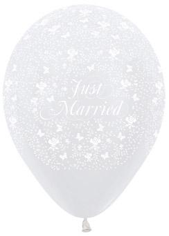 Ballons R-12 mit Aufdruck: Just Married