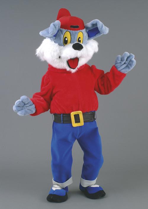 Kostüm Hund in blau