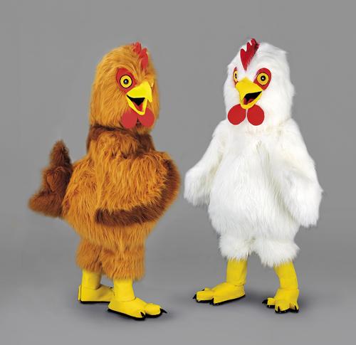 Kostüm Hahn braun oder weiß