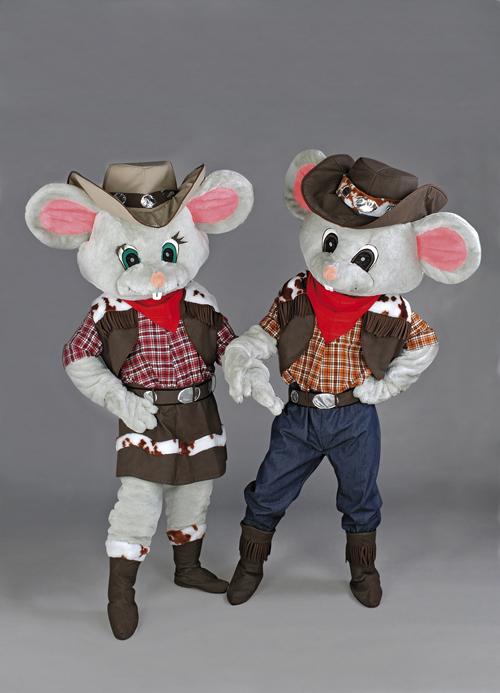 Kostüm Maus- Paar Western