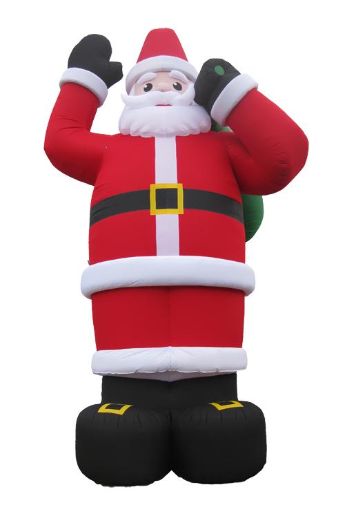 Weihnachtsmann aufblasbar 8m