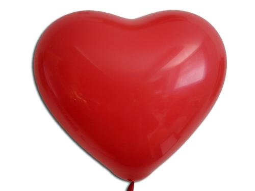 Herzballons 16 Premium Kristall rot