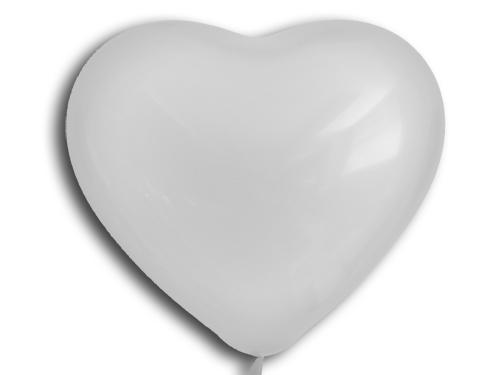 Herzballons 6  Satin Pearl silber