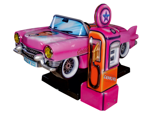 Kiddie Ride Cadillac mit Tanksäule