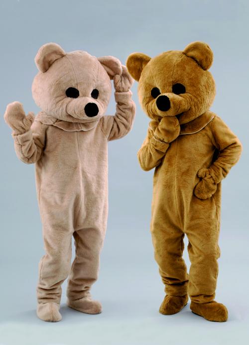 Kostüm Bär in hell oder dunkel braun