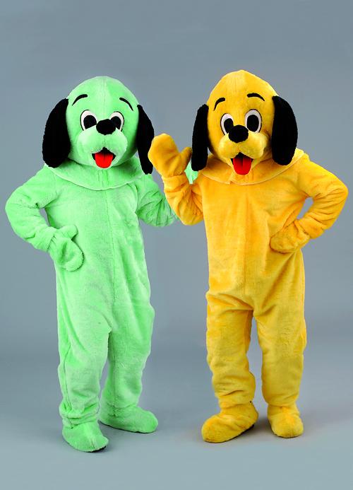 Kostüm Hund grün oder gelb