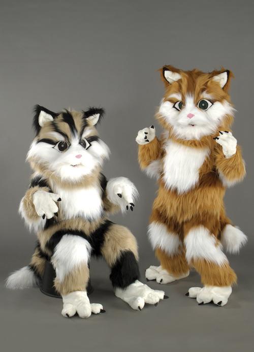 Kostüm Katze getigert schwarz oder braun