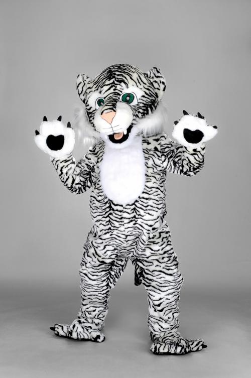 Kostüm Tiger weiß