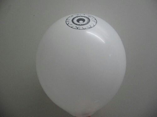 Ballons r-5 mit Aufdruck Auge auf der Oberseite
