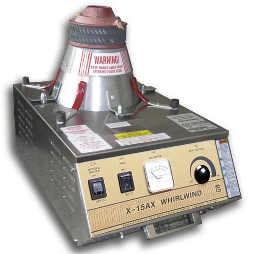 Zuckerwattemaschine X-15 Whirlwind mit Aluwanne