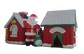 Haus begehbar im Weihnachtsdesign