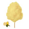 Farbaroma Flossine Zitrone (Gelb) für Zuckerwatte in der Dose
