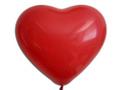 Herzballons 12  Premium Kristall rot