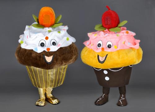 Kostüm Cupcakes hell oder dunkel