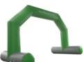 Torbogen mit Klettbannern Grün